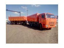 камаз 65115 зерновоз с прицепом